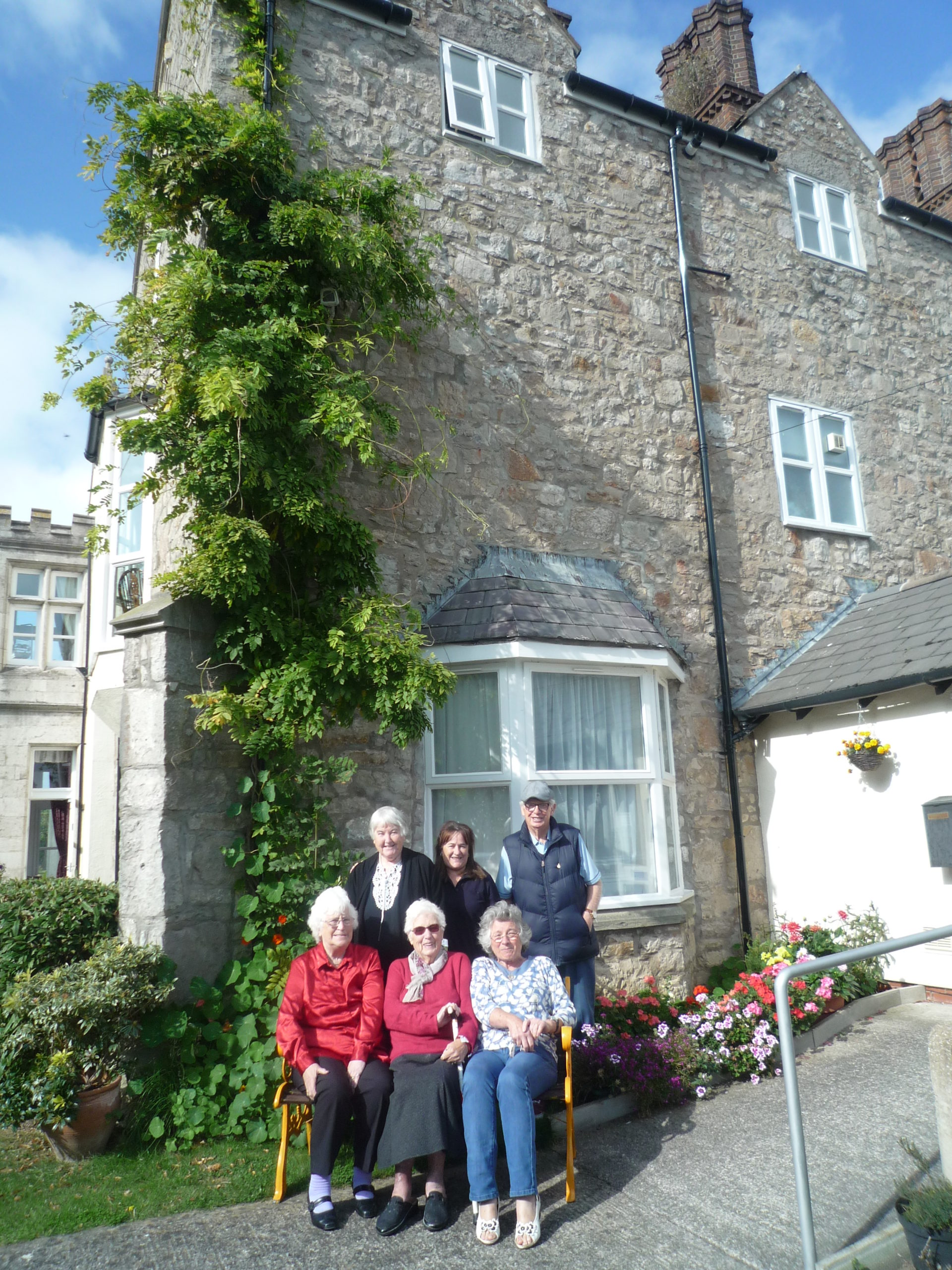 Highly commended: Louise Blackwell – residents outside Pentre Mawr, Conwy