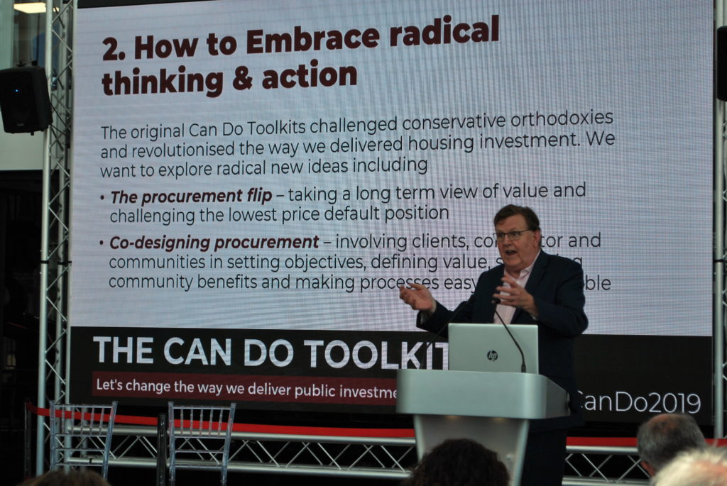 Keith Edwards speaks at the Can Do Toolkit event