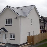One of the two Denbighshire modular homes